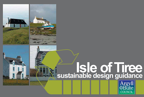 Front cover of the Isle of Tiree Sustainable Design Guidance document